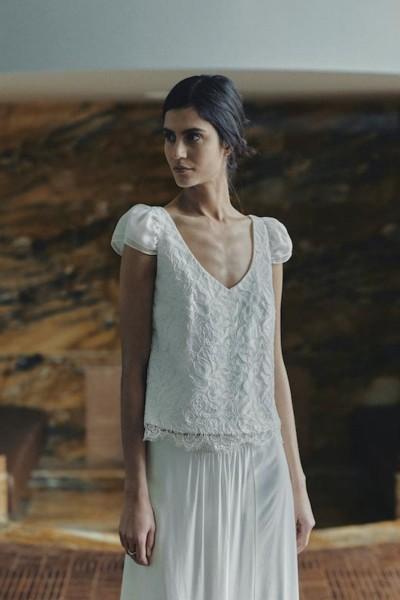 Wedding skirt Laure de Sagazan Greta front